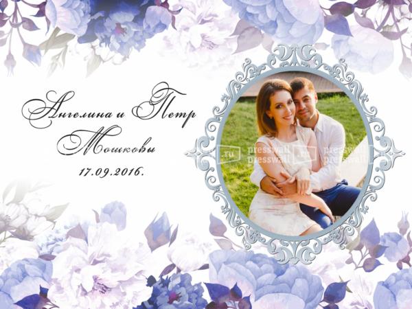Дизайн-макет свадебного пресс-волла в москве